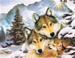 Wolf Family Holiday Notelets