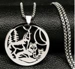 View details for this Wolf Family Necklace