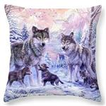 View details for this Wolf Family Pillow