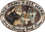 Wolf Gang Tin Sign