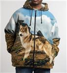 Hooded Wolf Jacket - XXL