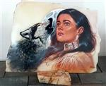 View details for this Wolf Maiden Onyx Painting