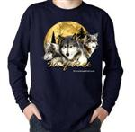 Wolf Pack Long Sleeve Childs t shirt - L