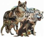 View details for this Wolf Pack Collage Puzzle