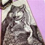 View details for this Wolf Pair Face or Dish Towel