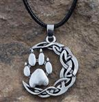 View details for this Wolf Paw Moon Necklace