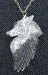 View details for this Wolf and Raven Necklace