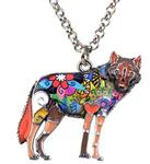 View details for this Wolf Statement Necklace Earthtone
