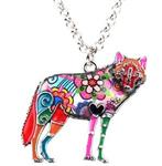 View details for this Wolf Statement Necklace Psychedelic