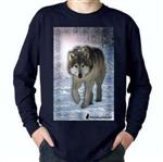 View details for this Wolf Walk Childs Long Sleeve T Shirt-CM