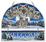 View details for this Wolf Welcome Glass Plaque