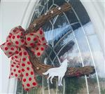 View details for this Wolf Wreath Polka Dot Bow