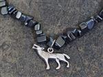 Wolf Black Gemstone Necklace