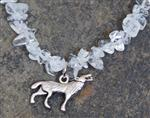Wolf Crystal Gemstone Necklace