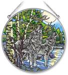 View details for this Wolf Duet Window Art