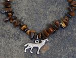 Wolf Earthtone Gemstone Necklace