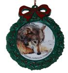 Wolf Wreath Ornament - Nita