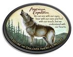Large Oval Wolf Magnet