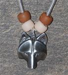 View details for this Wolf Mask Necklace - Earth
