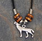 View details for this Wolf Necklace with Adjustable Cord