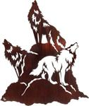 Wolf Night Chorus Metal Wall Art