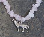 View details for this Wolf Pink Gemstone Necklace