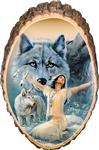 Wolf Prayer Cedar Plaque