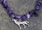 View details for this Wolf Purple Gemstone Necklace