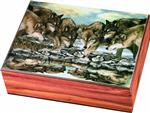 View details for this Wolf Reflections Cedar Box