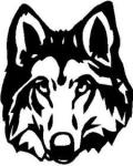 Wolf Face Decal
