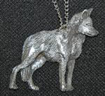 Yearling Red Wolf Necklace