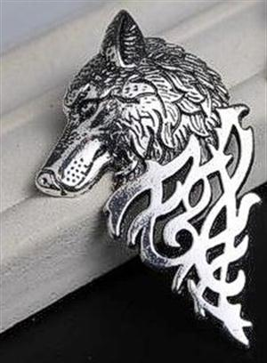 This Wolf pin is new in our gift shop.