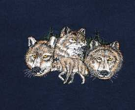 Beautiful embroidered Wolves on the left side