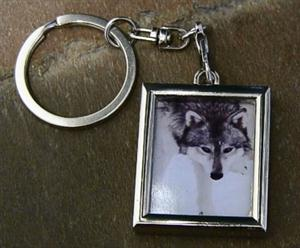 Our fiestly little Wolf girl on a keychain.