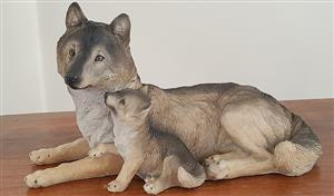 This is a beautiful new Wolf figurine in our gift shop.