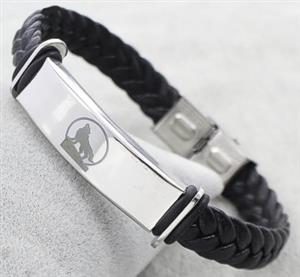 New Stainless Steel and Leather Wolf Bracelet for 2018.