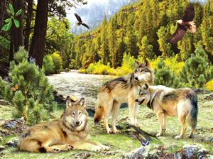 Beautiful Wolves on this new puzzle.