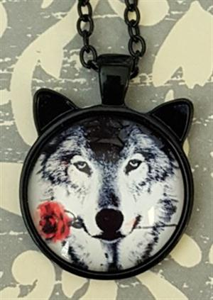 This is a very unique Wolf Necklace.