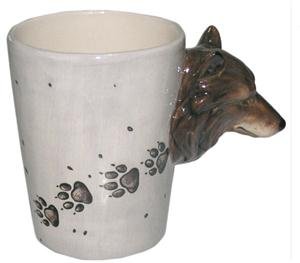 This is a new and unique Wolf mug.