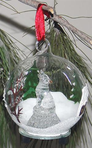 Our hand painted light up glass ornament makes a great gift.