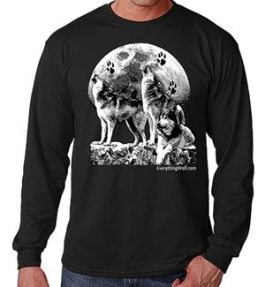 A howlin good Wolf long sleeve t shirt.