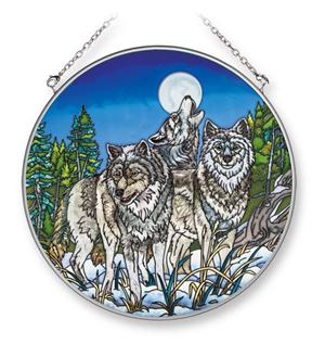 We love this new hand painted glass piece.