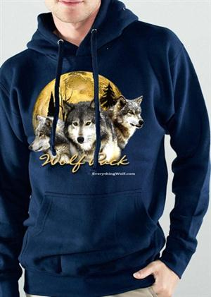 Be part of the Pack with this Wolf pullover hoodie.