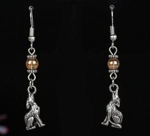 These are very cool howling Wolf dangle earrings.