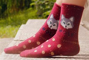 These new Wolf Socks are too cute.