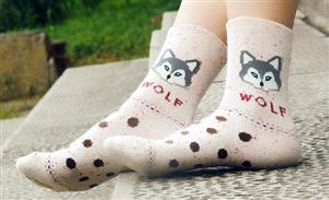 Really cute Wolf socks.