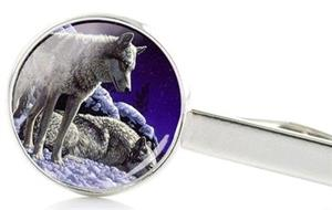 This Wolf tie clip would make a great stocking stuffer.