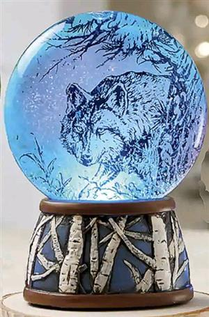 Beautiful snow globe that changes to different colors.