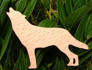 New, very cute beach wood Wolf pin.