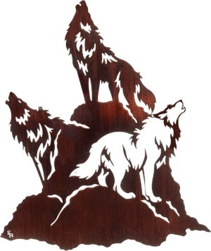 Awesome Wolf metal art.  A WHAP favorite.